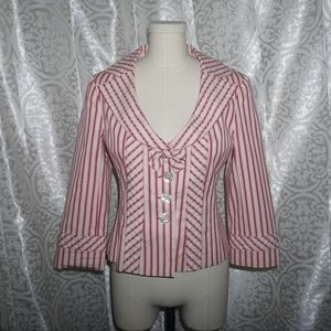 Nanette Lepore pink striped jacket